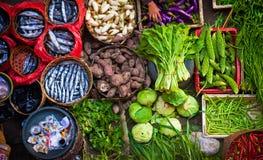 五颜六色的巴厘岛市场 库存照片