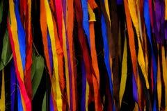五颜六色的布料 库存图片
