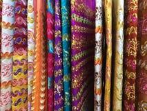 五颜六色的布裙,泰国 免版税库存图片