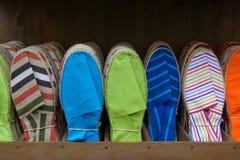 五颜六色的帆布鞋 库存图片