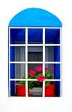 五颜六色的希腊视窗 免版税库存图片