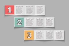 五颜六色的平的步 库存例证