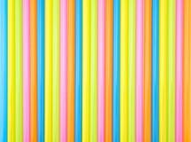 五颜六色的平直的秸杆 免版税库存图片
