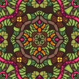 五颜六色的幻想无缝的传染媒介装饰物样式 向量例证