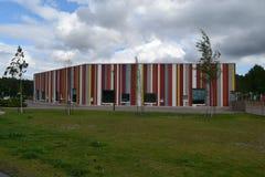 五颜六色的幼儿园在埃斯波,芬兰 库存图片