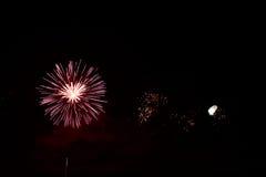 五颜六色的庆祝烟花 免版税库存照片