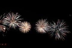 五颜六色的庆祝烟花 图库摄影