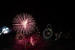 五颜六色的庆祝烟花 库存照片