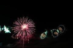 五颜六色的庆祝烟花 库存图片