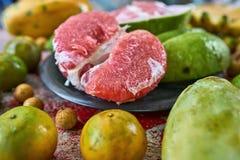 五颜六色的异乎寻常的果子 图库摄影
