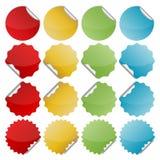 五颜六色的弯曲的封印 图库摄影