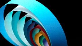五颜六色的弯曲的纸片的宏观图象 免版税库存照片