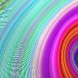 五颜六色的弯曲的线背景 图库摄影