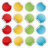 五颜六色的弯曲的贴纸 图库摄影