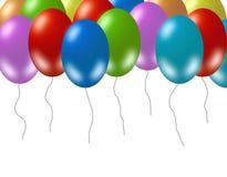 五颜六色的当事人气球 免版税库存照片