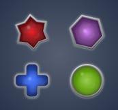 五颜六色的形状 免版税库存图片