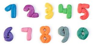 五颜六色的彩色塑泥数字 免版税图库摄影