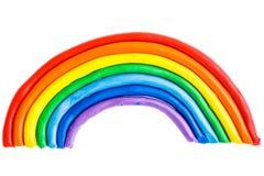 五颜六色的彩色塑泥 免版税库存图片