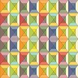 五颜六色的彩色玻璃无缝的背景 免版税库存照片