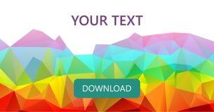 五颜六色的彩虹多角形横幅背景或传染媒介框架 库存例证