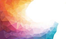 五颜六色的彩虹多角形背景或 向量例证