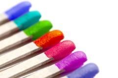 五颜六色的彩虹比赛 免版税库存照片