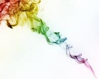 五颜六色的彩虹烟 免版税库存照片