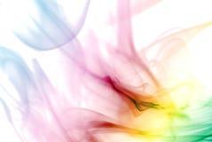 五颜六色的彩虹烟 库存照片