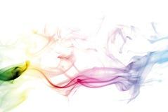 五颜六色的彩虹烟 图库摄影
