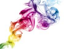 五颜六色的彩虹烟 免版税库存图片