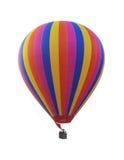 五颜六色的彩虹热空气气球 库存照片