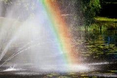 五颜六色的彩虹视图 免版税库存照片