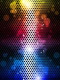五颜六色的彩虹霓虹党背景 库存例证