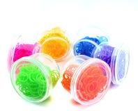 五颜六色的彩虹织布机橡胶 库存照片
