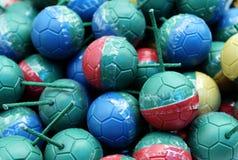 五颜六色的微型炸弹球 库存照片