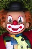 五颜六色的微笑的小丑面孔 免版税库存照片