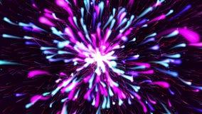 五颜六色的微粒爆炸流程放松的背景 皇族释放例证