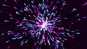 五颜六色的微粒爆炸流程放松的背景 库存例证