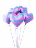 五颜六色的心脏气球 免版税库存图片