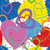 从五颜六色的心脏的背景 库存照片