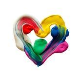 五颜六色的心脏 图库摄影