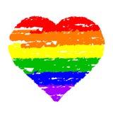 五颜六色的心脏 免版税库存照片