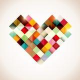 五颜六色的心脏 免版税库存图片