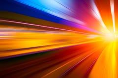 五颜六色的快速地移动超级高速概念 免版税库存图片