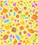 五颜六色的快餐bakground 免版税库存图片