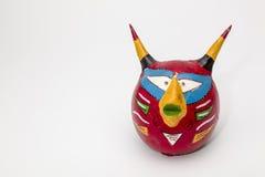 五颜六色的恶魔面具 免版税库存照片