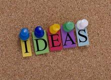 五颜六色的想法 库存图片
