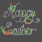 五颜六色的愉快的复活节贺卡 免版税库存图片