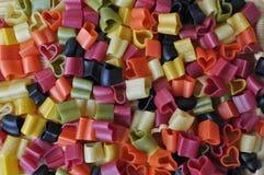 五颜六色的意大利意大利面食 图库摄影