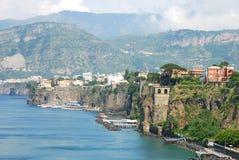 五颜六色的意大利索伦托城镇 库存照片